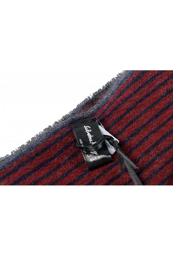 Salvatore Ferragamo Multi-Color 100% Cashmere Striped Logo Print Shawl Scarf: Picture 3
