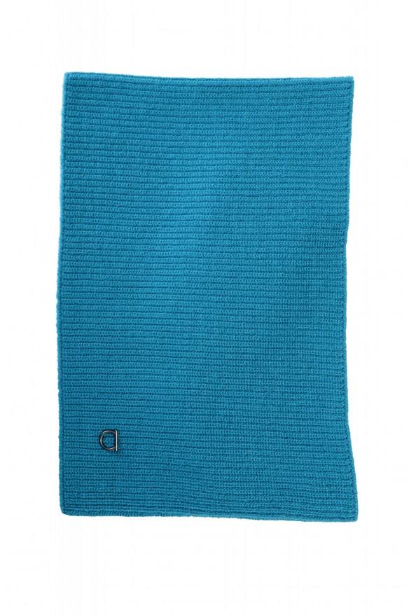 Salvatore Ferragamo Teal Blue Wool Neck Warmer Scarf