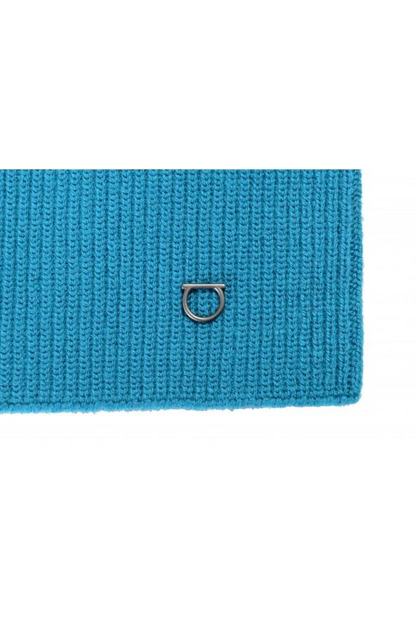 Salvatore Ferragamo Teal Blue Wool Neck Warmer Scarf: Picture 2