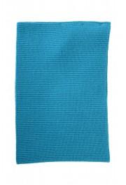 Salvatore Ferragamo Teal Blue Wool Neck Warmer Scarf: Picture 3
