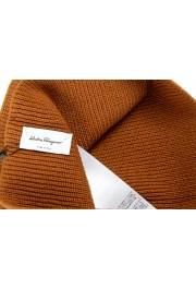 Salvatore Ferragamo Brown Wool Neck Warmer Scarf: Picture 4