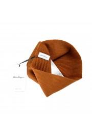 Salvatore Ferragamo Brown Wool Neck Warmer Scarf: Picture 5