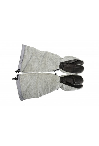 """Moncler """"Guanti"""" 100% Wool Gray Long Winter Gloves: Picture 2"""