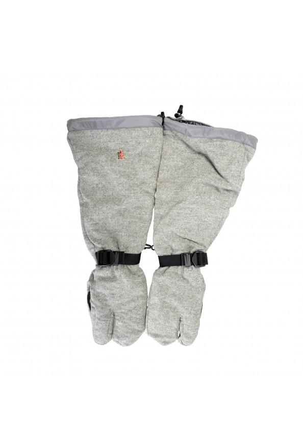 "Moncler ""Guanti"" 100% Wool Gray Long Winter Gloves"