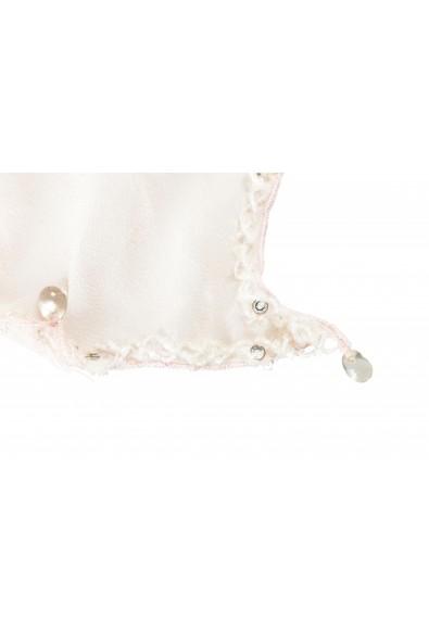 Roberto Cavalli Women's Light Pink 100% Silk Embellished Scarf: Picture 2