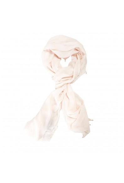Roberto Cavalli Women's Light Pink 100% Silk Embellished Scarf