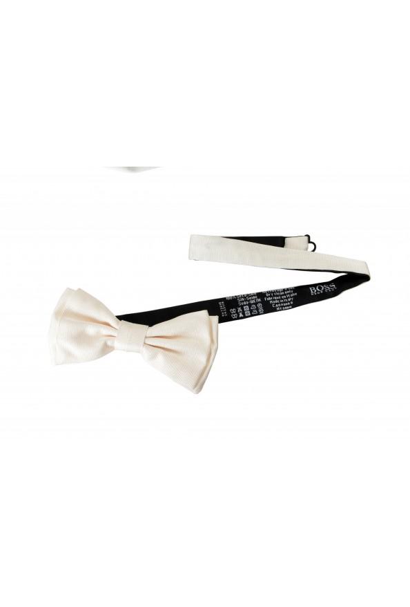 Hugo Boss Men's Ivory 100% Silk Bow Tie: Picture 2