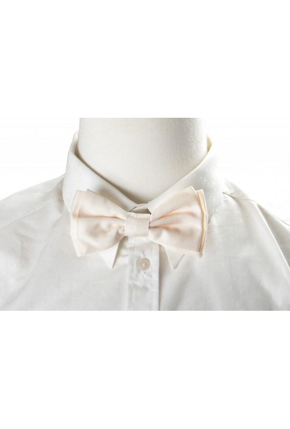 Hugo Boss Men's Ivory 100% Silk Bow Tie