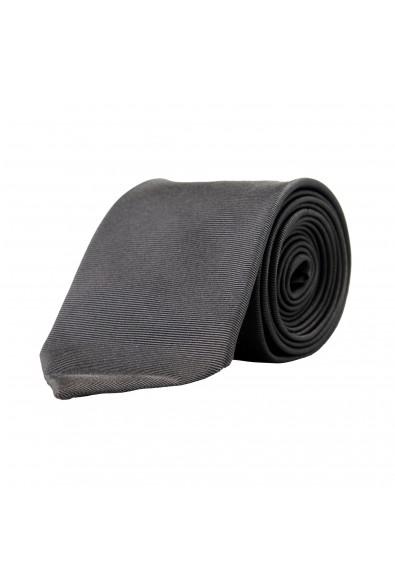 Hugo Boss Men's Gray Striped 100% Silk Tie