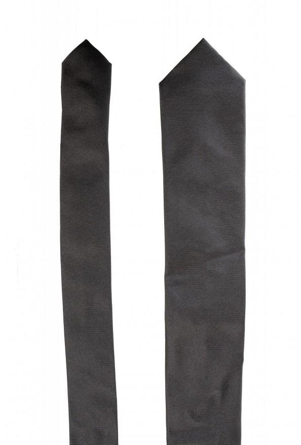 Hugo Boss Men's Gray Striped 100% Silk Tie: Picture 2