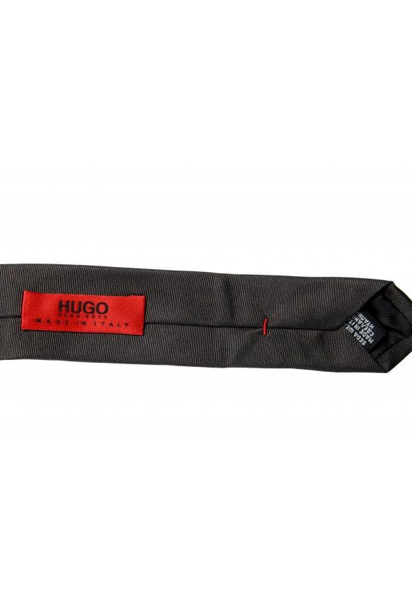 Hugo Boss Men's Gray Striped 100% Silk Tie: Picture 3