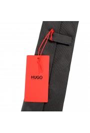 Hugo Boss Men's Gray Striped 100% Silk Tie: Picture 4