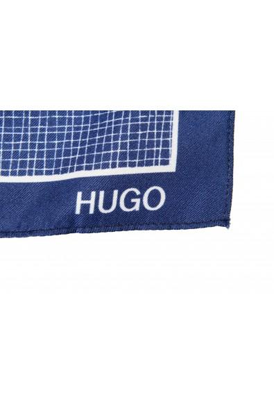 Hugo Boss Men's 100% Silk Graphic Print Pocket Square: Picture 2