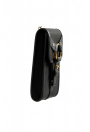 Versace Men's Leather Trimmed Black Mini Shoulder Bag: Picture 3