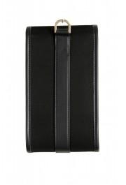 Versace Men's Leather Trimmed Black Mini Shoulder Bag: Picture 4