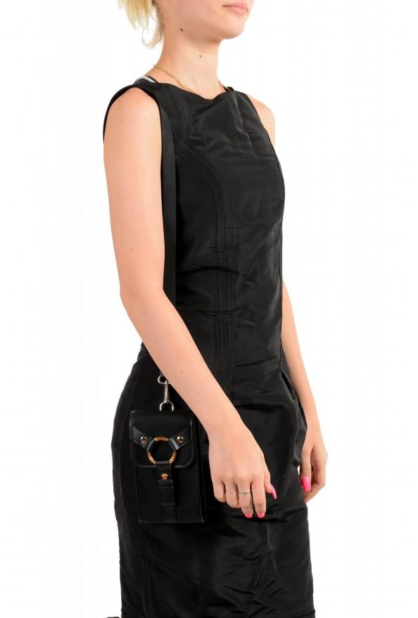 Versace Men's Leather Trimmed Black Mini Shoulder Bag: Picture 5
