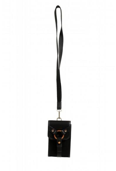 Versace Men's Leather Trimmed Black Mini Shoulder Bag