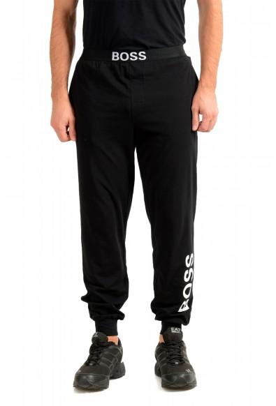 "Hugo Boss ""Identity Pants"" Black Stretch Casual Lounge Pants"