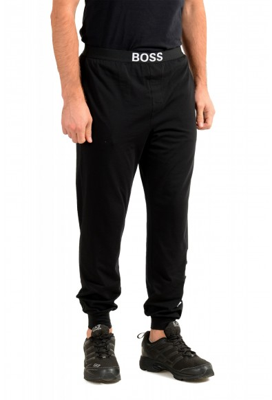 """Hugo Boss """"Identity Pants"""" Black Stretch Casual Lounge Pants: Picture 2"""