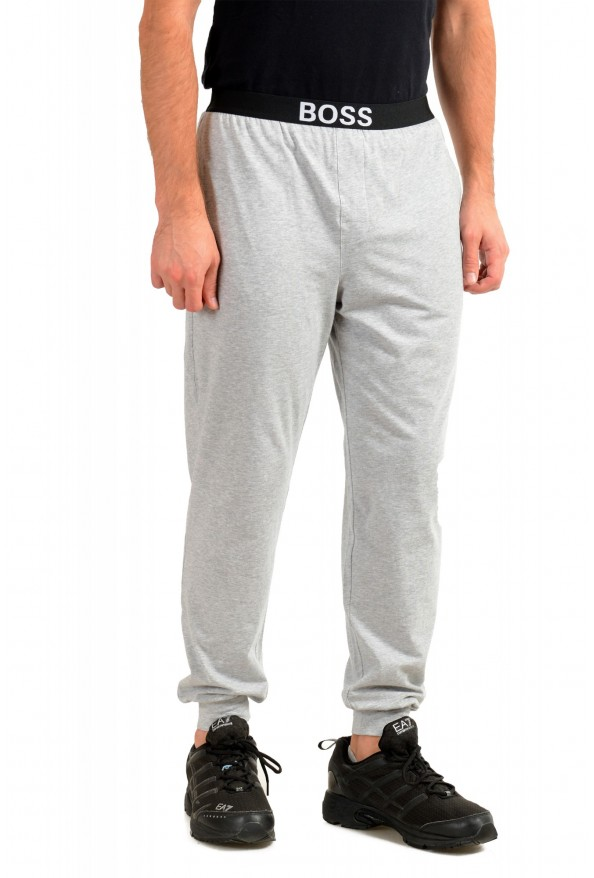 """Hugo Boss """"Identity Pants"""" Gray Stretch Casual Lounge Pants: Picture 2"""