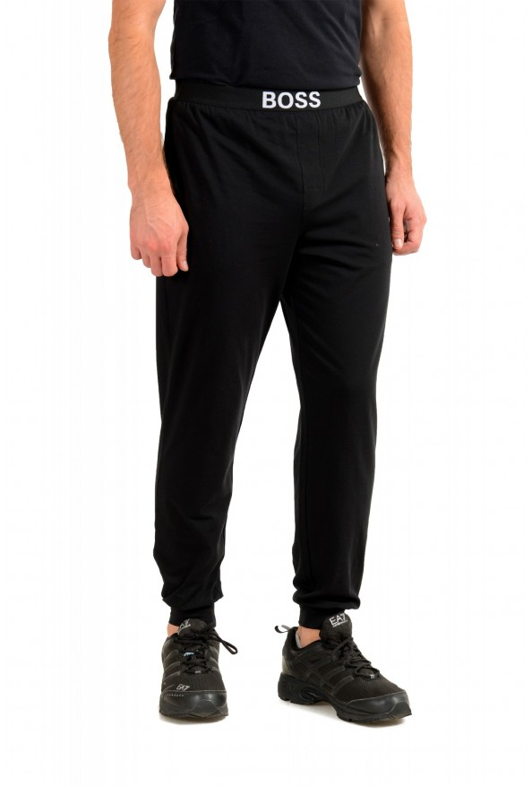 """Hugo Boss """"Identity Pants"""" Black Stretch Casual Lounge Pants : Picture 2"""