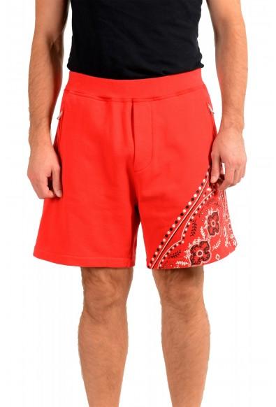 Dsquared2 Men's S71MU0514 Red Printed Sweat Shorts