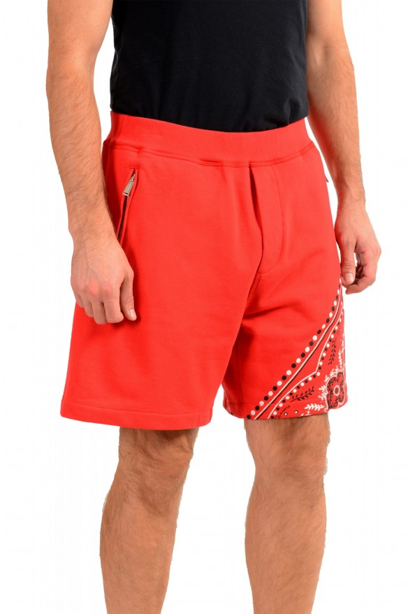 Dsquared2 Men's S71MU0514 Red Printed Sweat Shorts : Picture 2