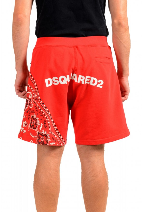 Dsquared2 Men's S71MU0514 Red Printed Sweat Shorts : Picture 3