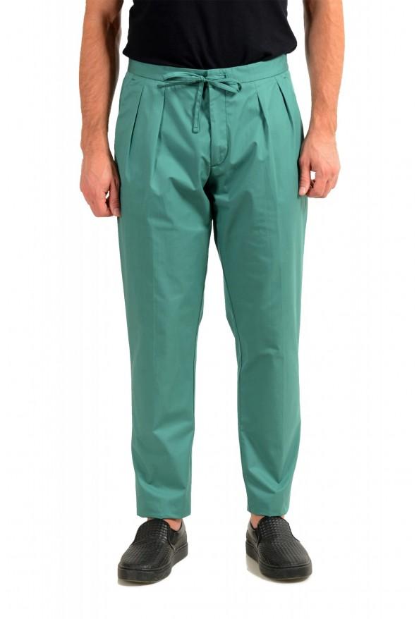 """Hugo Boss Men's """"Parik-2P-D"""" Relaxed Fit Green Casual Pants"""