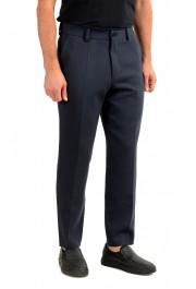 "Hugo Boss Men's ""Perin3"" Blue Wool Flat Front Dress Pants: Picture 2"