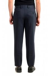 "Hugo Boss Men's ""Perin3"" Blue Wool Flat Front Dress Pants: Picture 3"