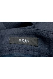 "Hugo Boss Men's ""Perin3"" Blue Wool Flat Front Dress Pants: Picture 5"