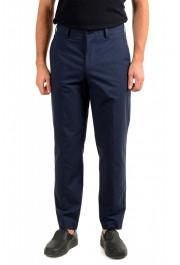 """Hugo Boss Men's """"Perin3"""" Blue Plaid Casual Pants"""