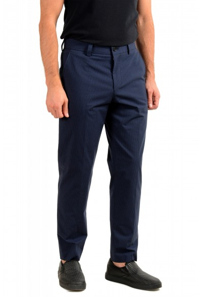 "Hugo Boss Men's ""Perin3"" Blue Plaid Casual Pants : Picture 2"