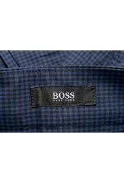 "Hugo Boss Men's ""Perin3"" Blue Plaid Casual Pants : Picture 5"