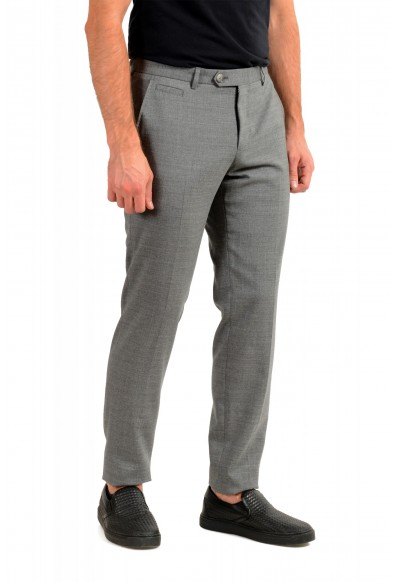 "Hugo Boss Men's ""T-Bryce"" Gray 100% Wool Flat Front Dress Pants: Picture 2"