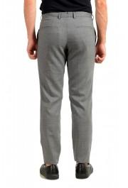 "Hugo Boss Men's ""T-Bryce"" Gray 100% Wool Flat Front Dress Pants: Picture 3"