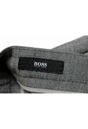 "Hugo Boss Men's ""T-Bryce"" Gray 100% Wool Flat Front Dress Pants: Picture 5"