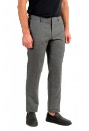 """Hugo Boss Men's """"Genius5"""" Slim Fit Gray 100% Wool Plaid Dress Pants: Picture 2"""