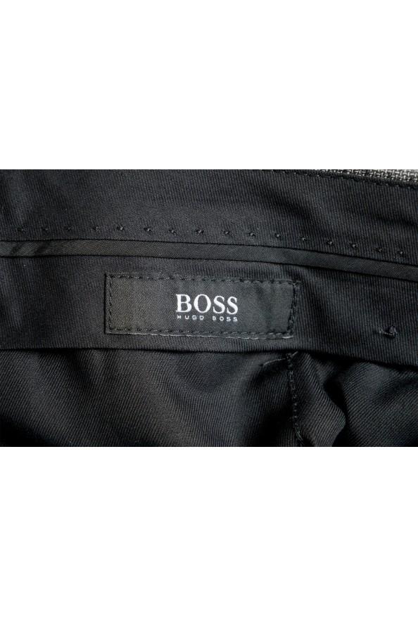 """Hugo Boss Men's """"Genius5"""" Slim Fit Gray 100% Wool Plaid Dress Pants: Picture 5"""