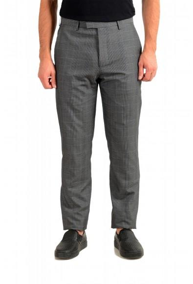 "Hugo Boss Men's ""T-Ned/Brite1"" Gray 100% Silk Plaid Dress Pants"
