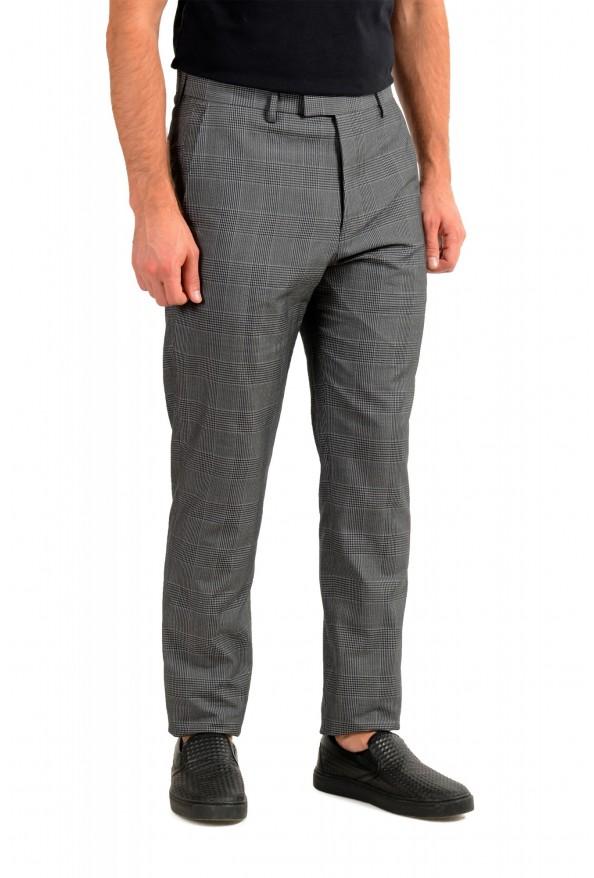 "Hugo Boss Men's ""T-Ned/Brite1"" Gray 100% Silk Plaid Dress Pants: Picture 2"