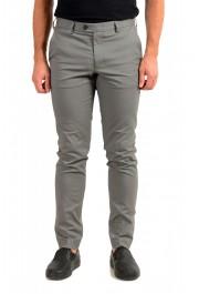 "Hugo Boss Men's ""T-Kaito"" Gray Silk Flat Front Casual Pants"