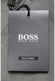"""Hugo Boss Men's """"T-Kaito"""" Gray Silk Flat Front Casual Pants: Picture 4"""