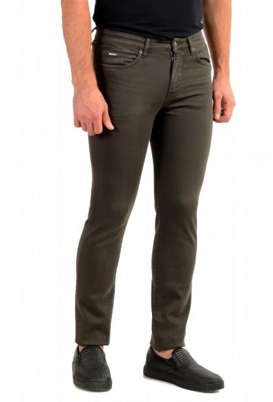 "Hugo Boss Men's ""Delaware3-1"" Slim Fit Green Wash Straight Leg Jeans: Picture 2"