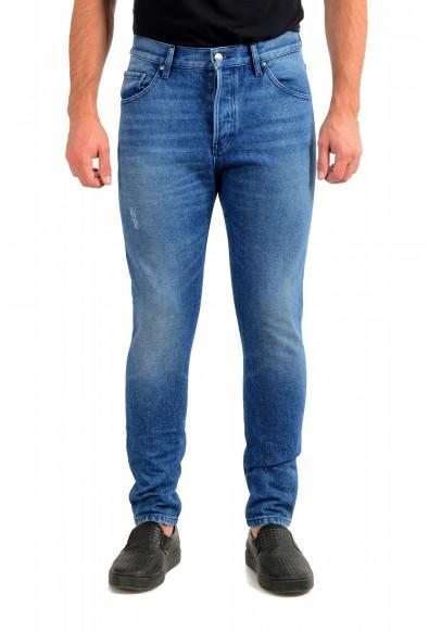 """Hugo Boss Men's """"Hugo 432"""" Blue Wash Straight Leg Jeans"""