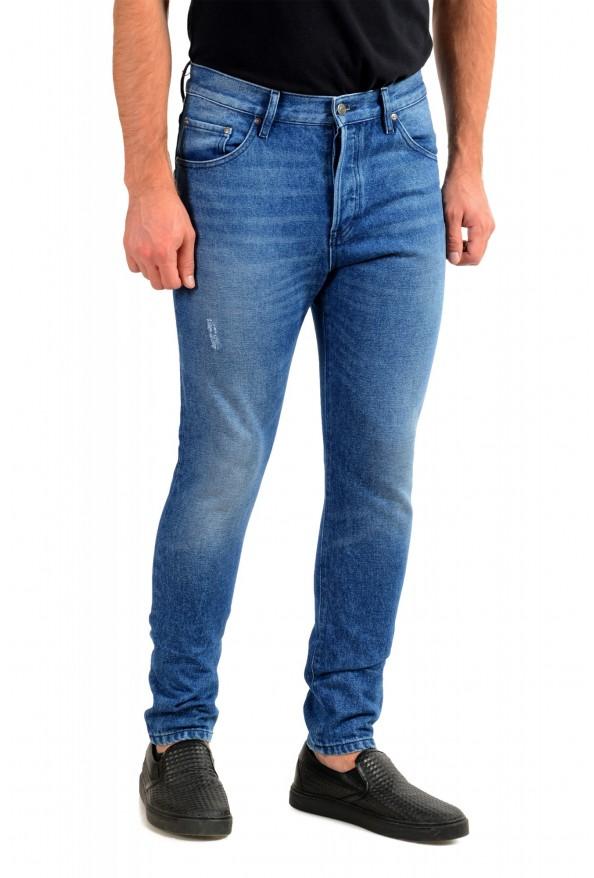 """Hugo Boss Men's """"Hugo 432"""" Blue Wash Straight Leg Jeans: Picture 2"""
