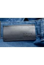 """Hugo Boss Men's """"Delaware3"""" Slim Fit Blue Straight Leg Jeans: Picture 4"""