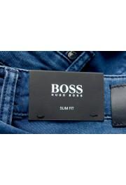 """Hugo Boss Men's """"Delaware3"""" Slim Fit Blue Straight Leg Jeans: Picture 5"""