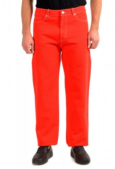 """Hugo Boss Men's """"Hugo 443 192FS"""" Red Relaxed Fit Jeans"""